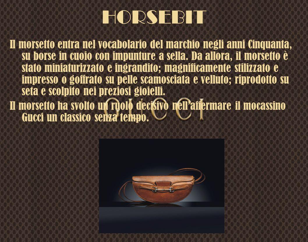 Il morsetto entra nel vocabolario del marchio negli anni Cinquanta, su borse in cuoio con impunture a sella. Da allora, il morsetto è stato miniaturiz