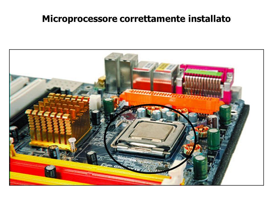 Installazione del microprocessore