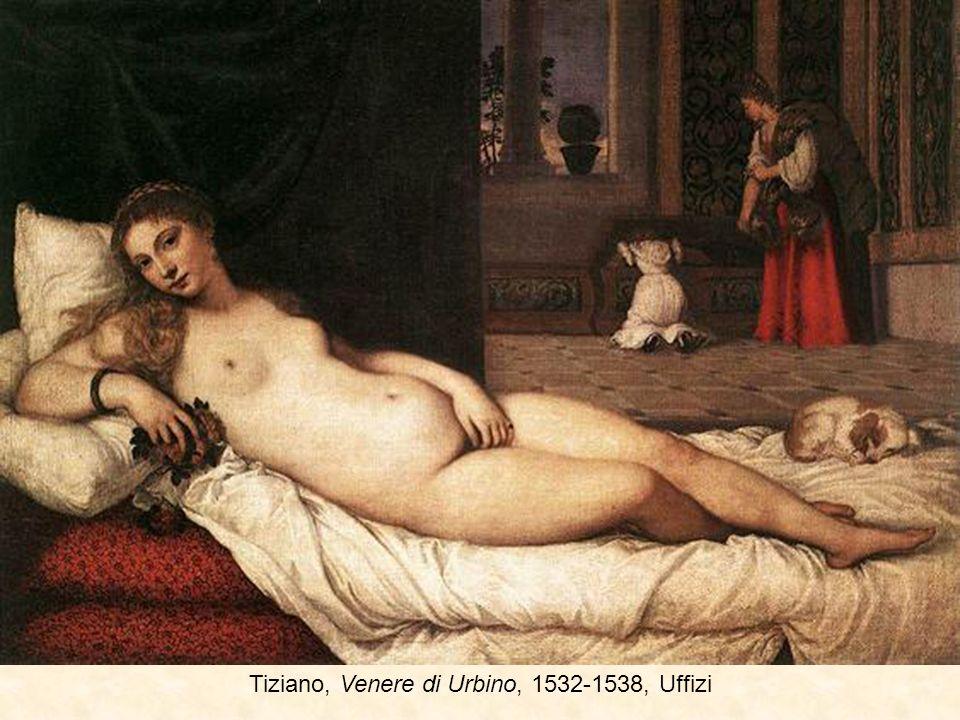 Lorenzo di Credi, Venere Uffizi 1493-4 Brescianino, Venere e due putti, 1520
