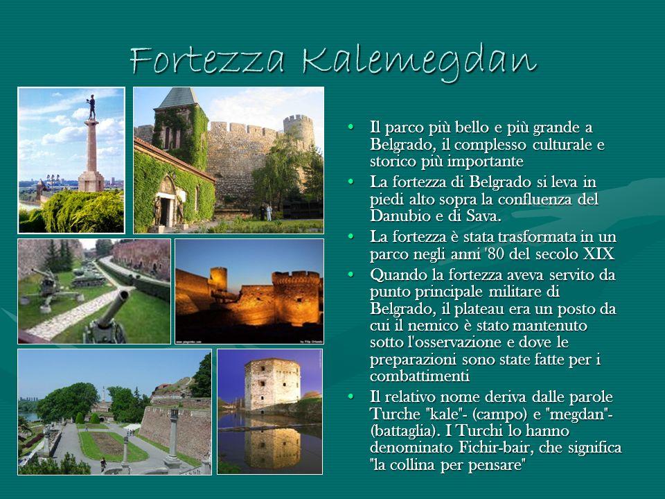 Fortezza Kalemegdan Il parco più bello e più grande a Belgrado, il complesso culturale e storico più importante La fortezza di Belgrado si leva in pie