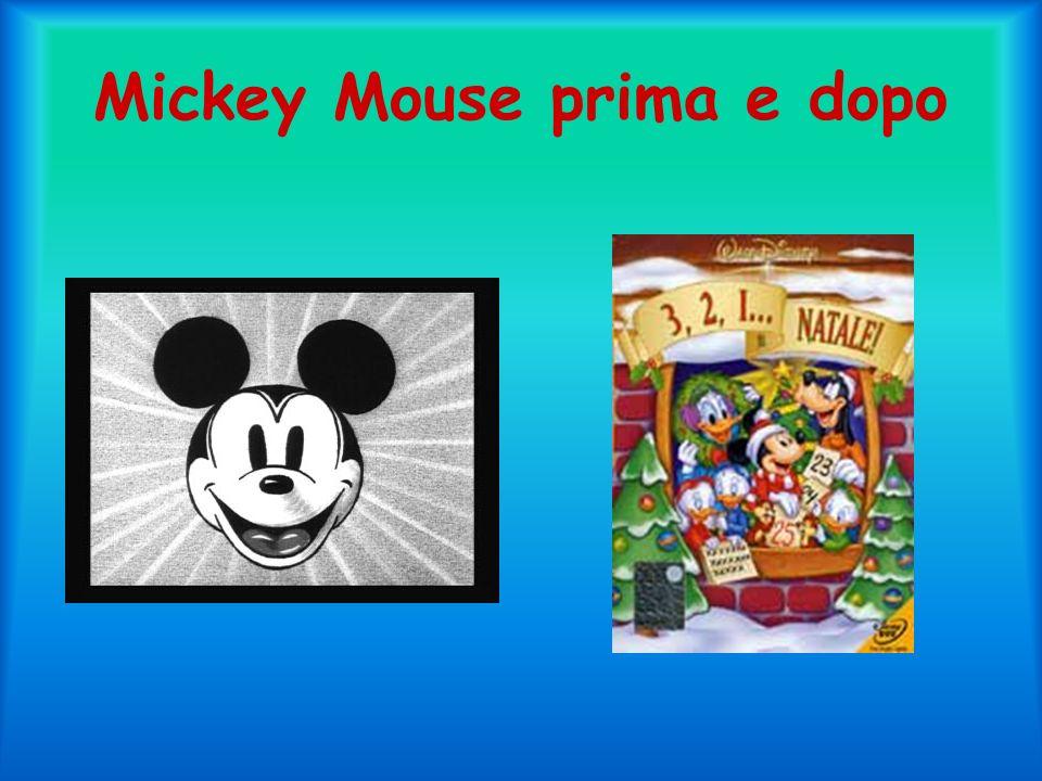 Mickey Mouse prima e dopo