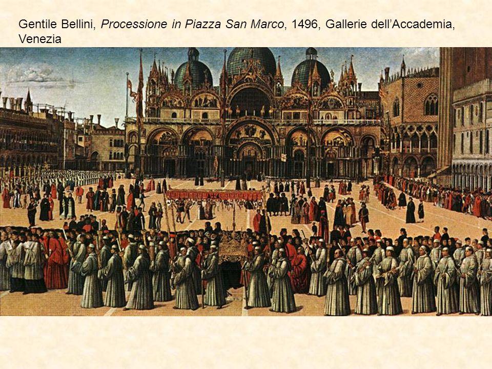 Gentile Bellini, Processione in Piazza San Marco, 1496, Gallerie dellAccademia, Venezia