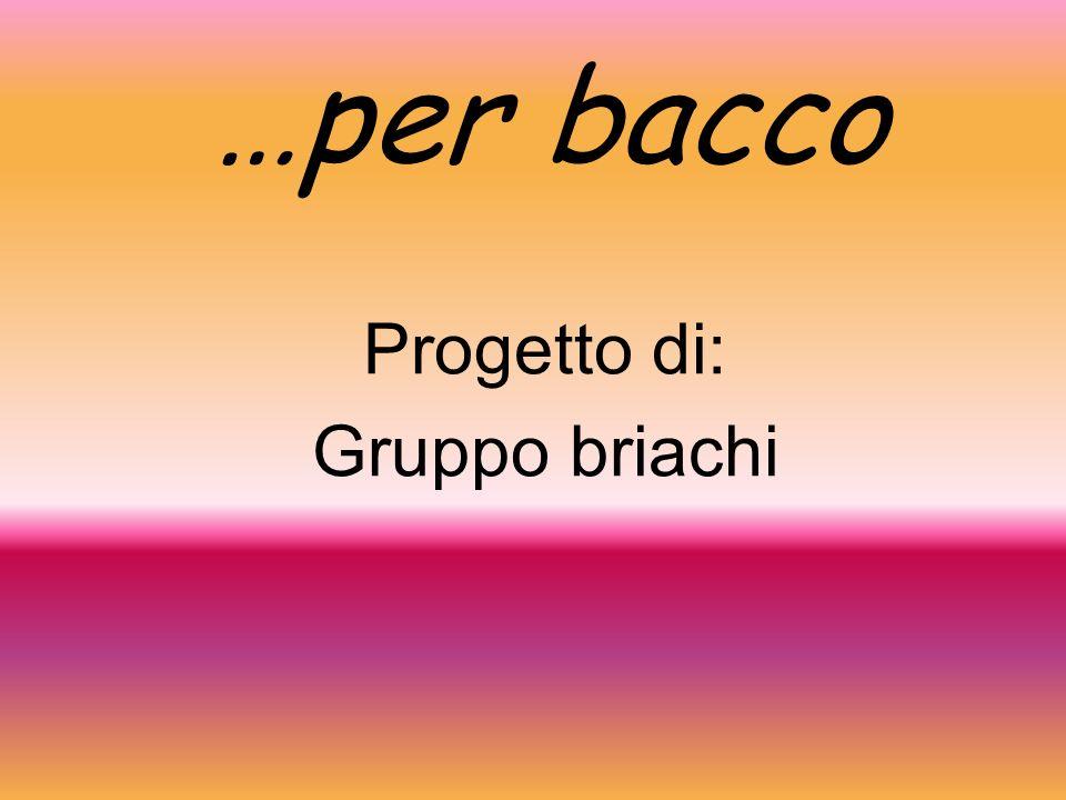 …per bacco Progetto di: Gruppo briachi