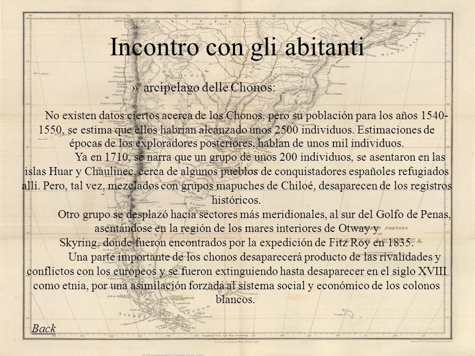 Incontro con gli abitanti »arcipelago delle Chonos: No existen datos ciertos acerca de los Chonos, pero su población para los años 1540- 1550, se esti