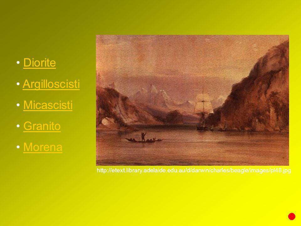 Diorite Argilloscisti Micascisti Granito Morena http://etext.library.adelaide.edu.au/d/darwin/charles/beagle/images/pl48.jpg