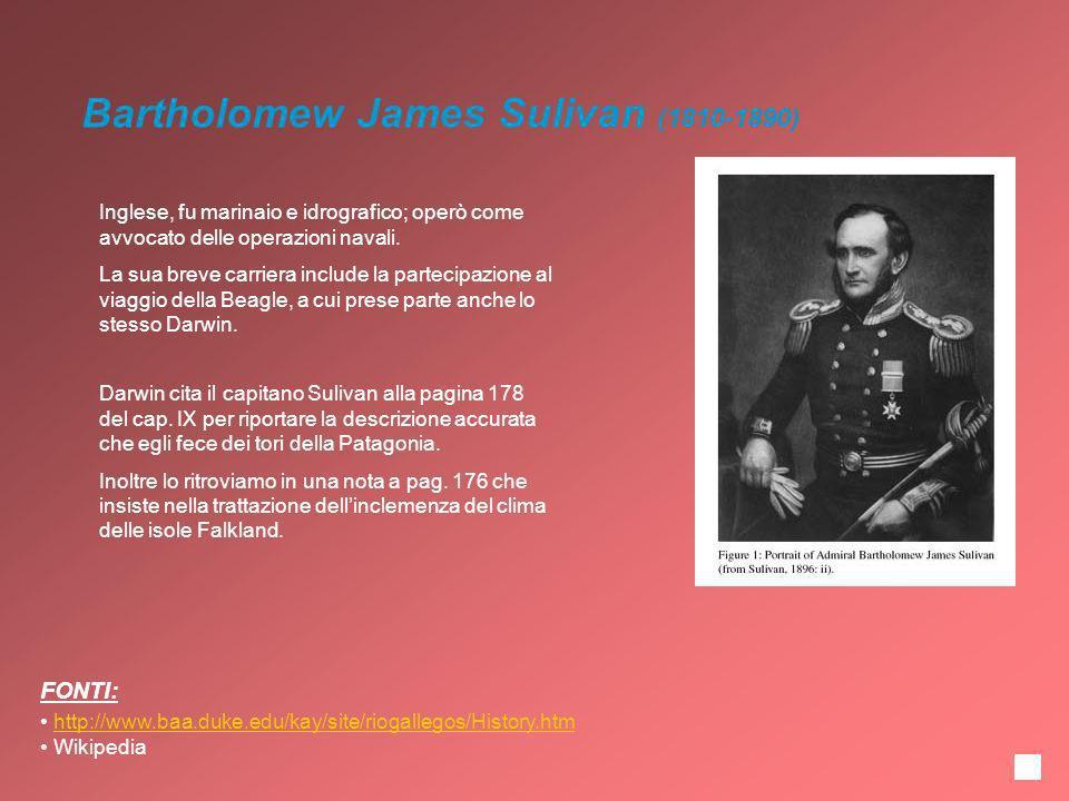 Inglese, fu marinaio e idrografico; operò come avvocato delle operazioni navali. La sua breve carriera include la partecipazione al viaggio della Beag