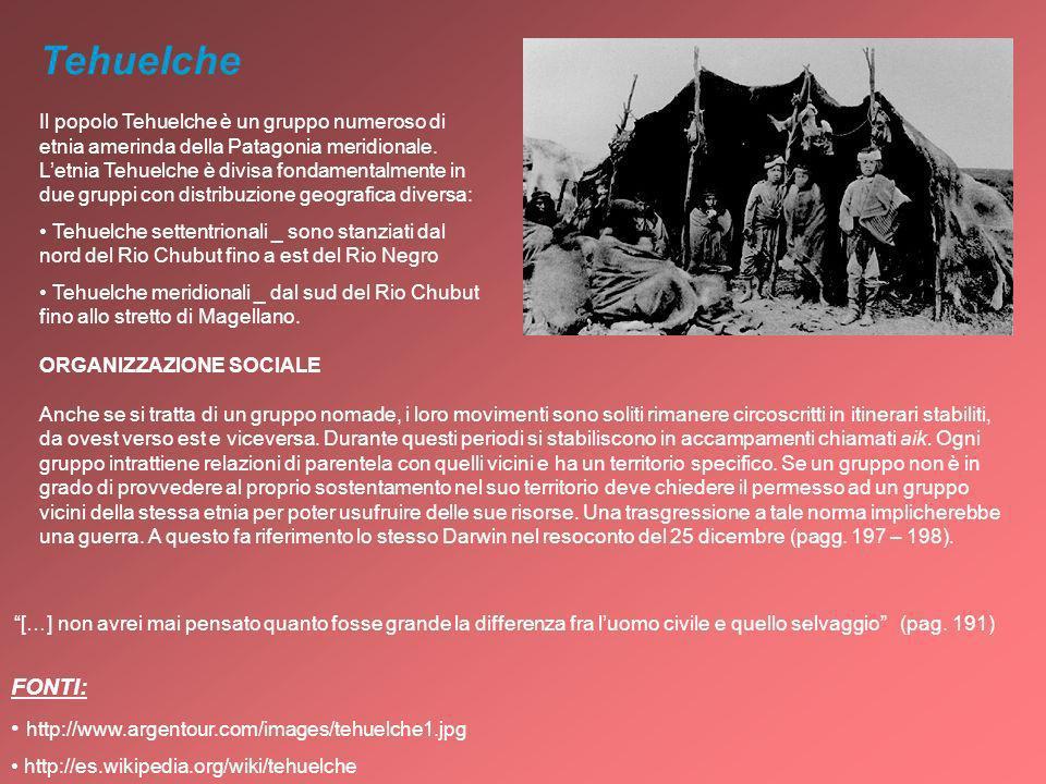 Tehuelche Il popolo Tehuelche è un gruppo numeroso di etnia amerinda della Patagonia meridionale. Letnia Tehuelche è divisa fondamentalmente in due gr