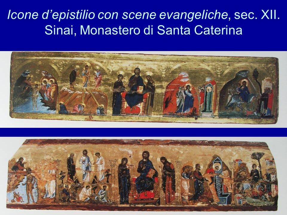 Icone depistilio con scene evangeliche, sec. XII. Sinai, Monastero di Santa Caterina