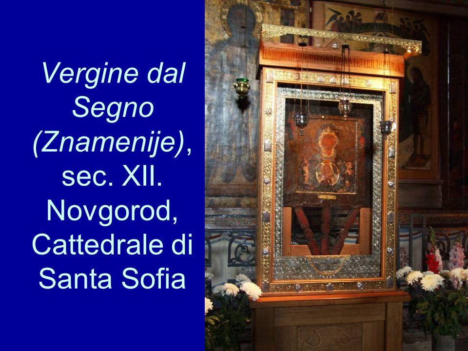 Vergine dal Segno (Znamenije), sec. XII. Novgorod, Cattedrale di Santa Sofia