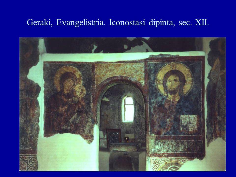 Geraki, Evangelistria. Iconostasi dipinta, sec. XII.