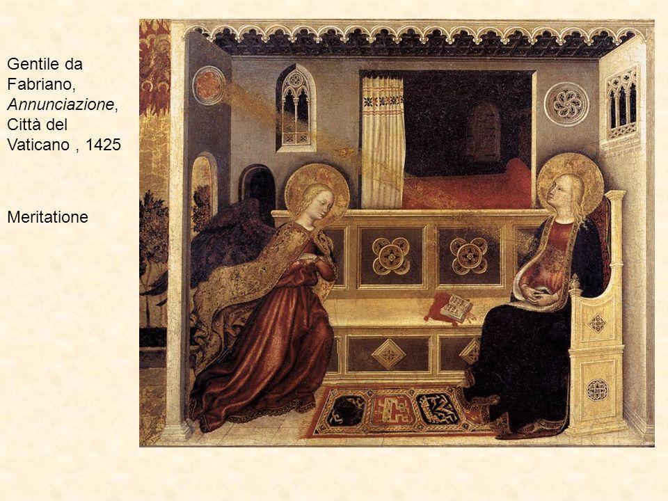 Gentile da Fabriano, Annunciazione, Città del Vaticano, 1425 Meritatione