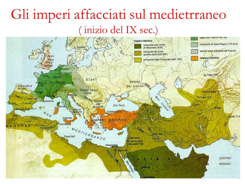 Gli imperi affacciati sul medietrraneo ( inizio del IX sec.)