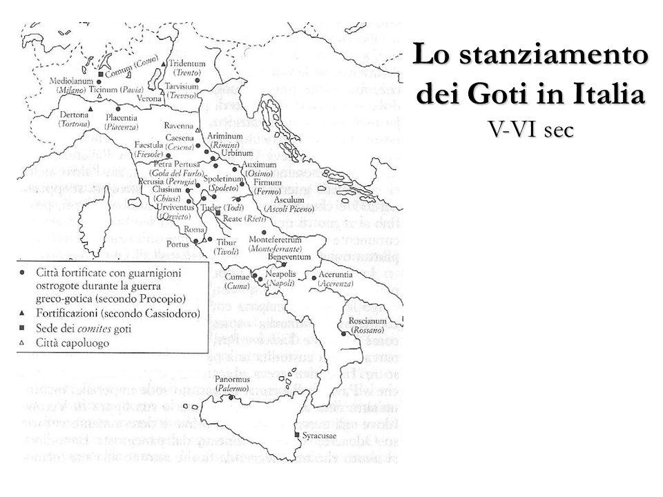 Lo stanziamento dei Goti in Italia V-VI sec