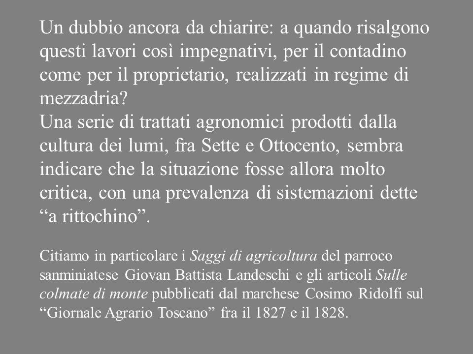 Da: Sulle colmate di monte di Cosimo Ridolfi
