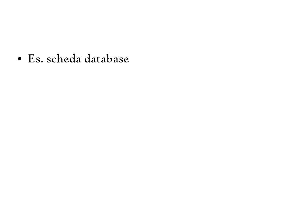 Es. scheda database