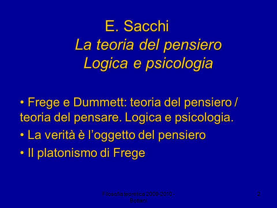 Filosofia teoretica 2009-2010 - Bottani 2 E.