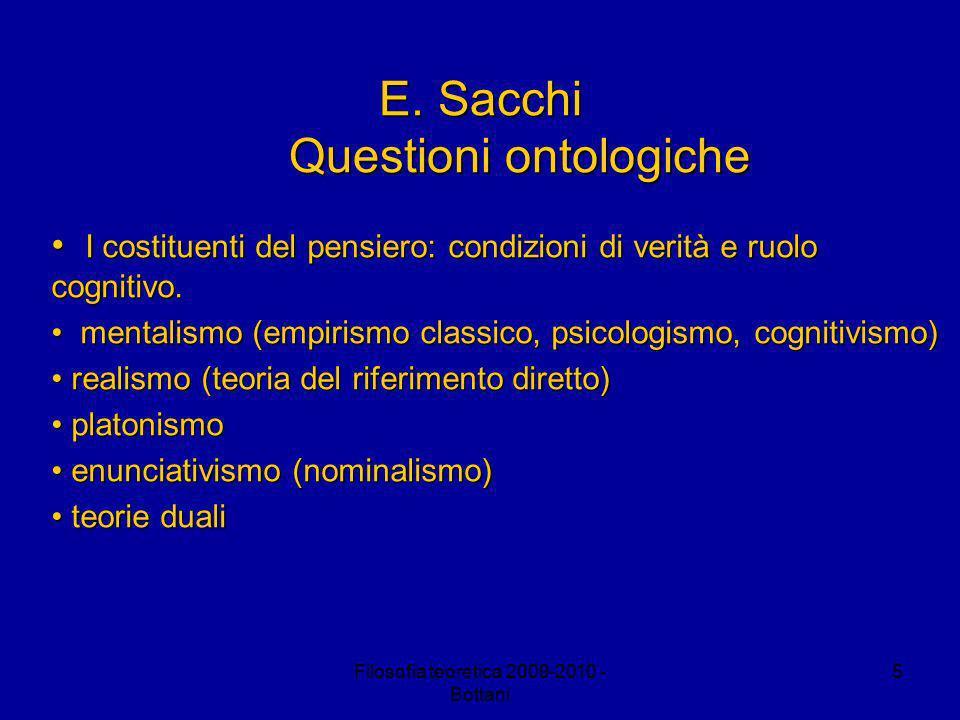Filosofia teoretica 2009-2010 - Bottani 5 E.