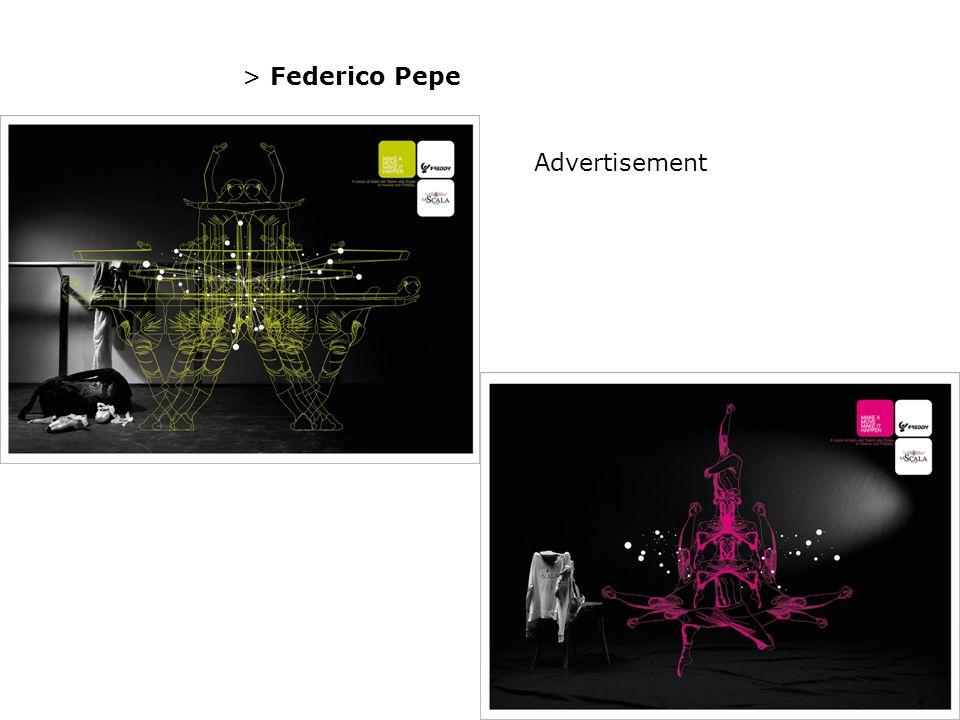 > Federico Pepe Advertisement