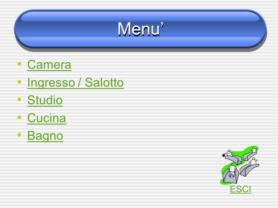 Menu Camera Ingresso / Salotto Studio Cucina Bagno ESCI