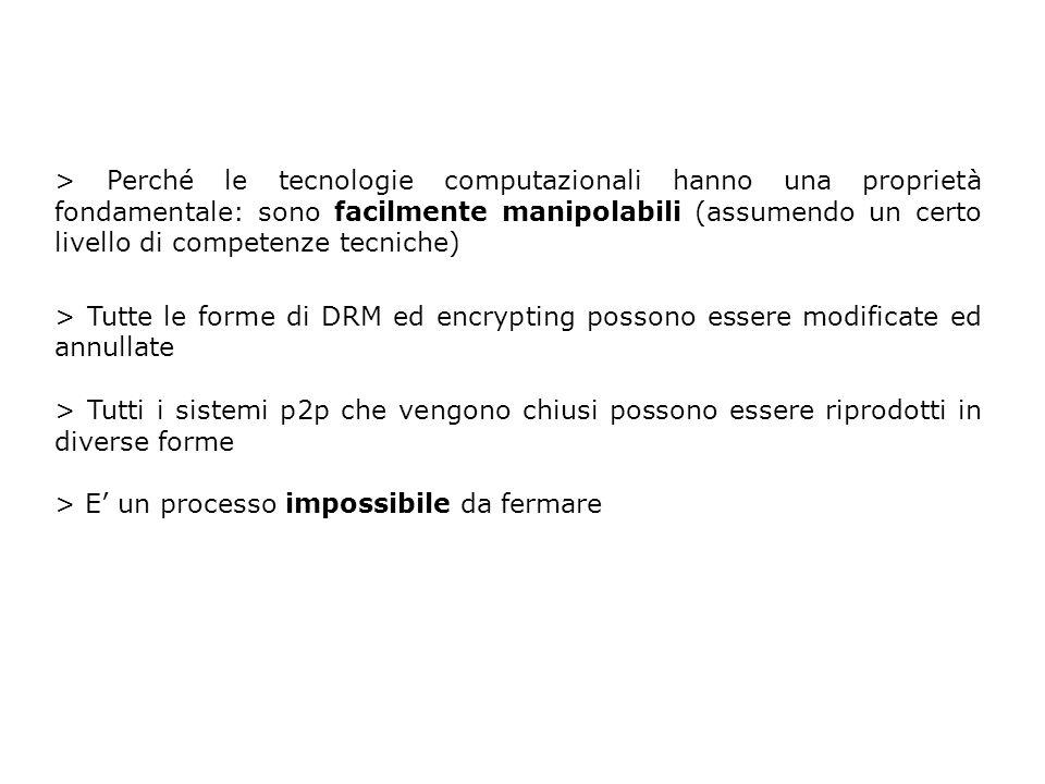 > Perché le tecnologie computazionali hanno una proprietà fondamentale: sono facilmente manipolabili (assumendo un certo livello di competenze tecnich