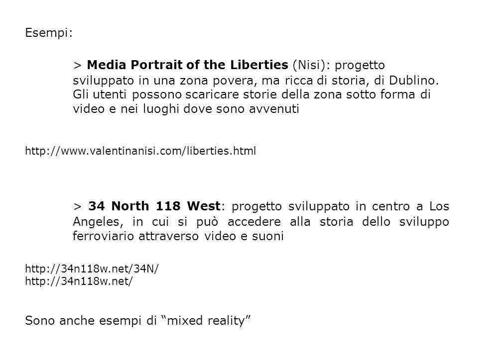 Esempi: > Media Portrait of the Liberties (Nisi): progetto sviluppato in una zona povera, ma ricca di storia, di Dublino.