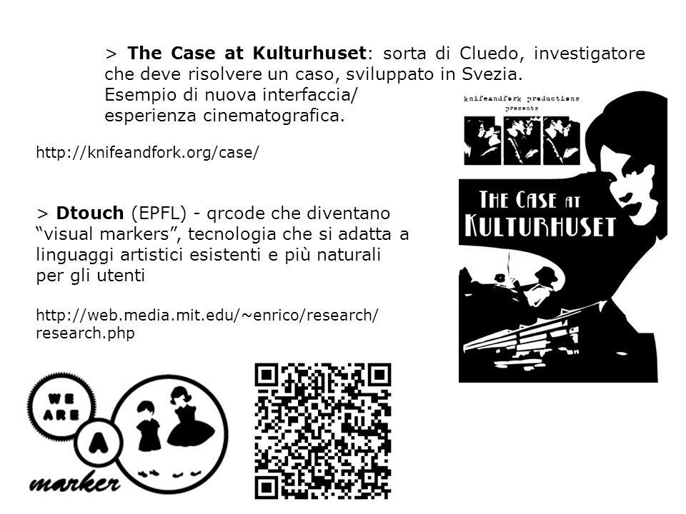 > The Case at Kulturhuset: sorta di Cluedo, investigatore che deve risolvere un caso, sviluppato in Svezia.