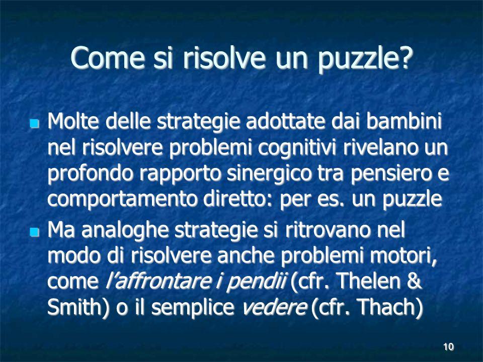 10 Come si risolve un puzzle.
