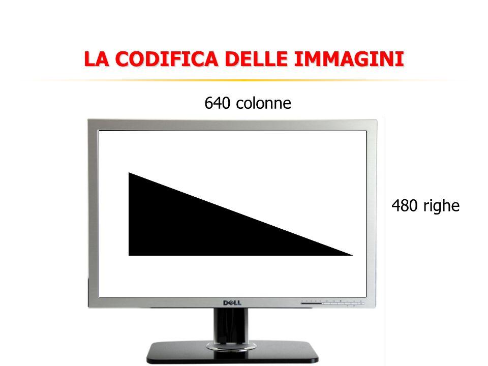 LA CODIFICA DELLE IMMAGINI 480 righe 640 colonne