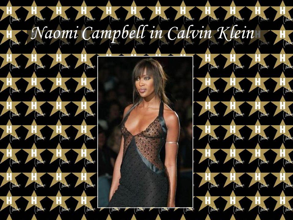 Naomi Campbell in Calvin Klein