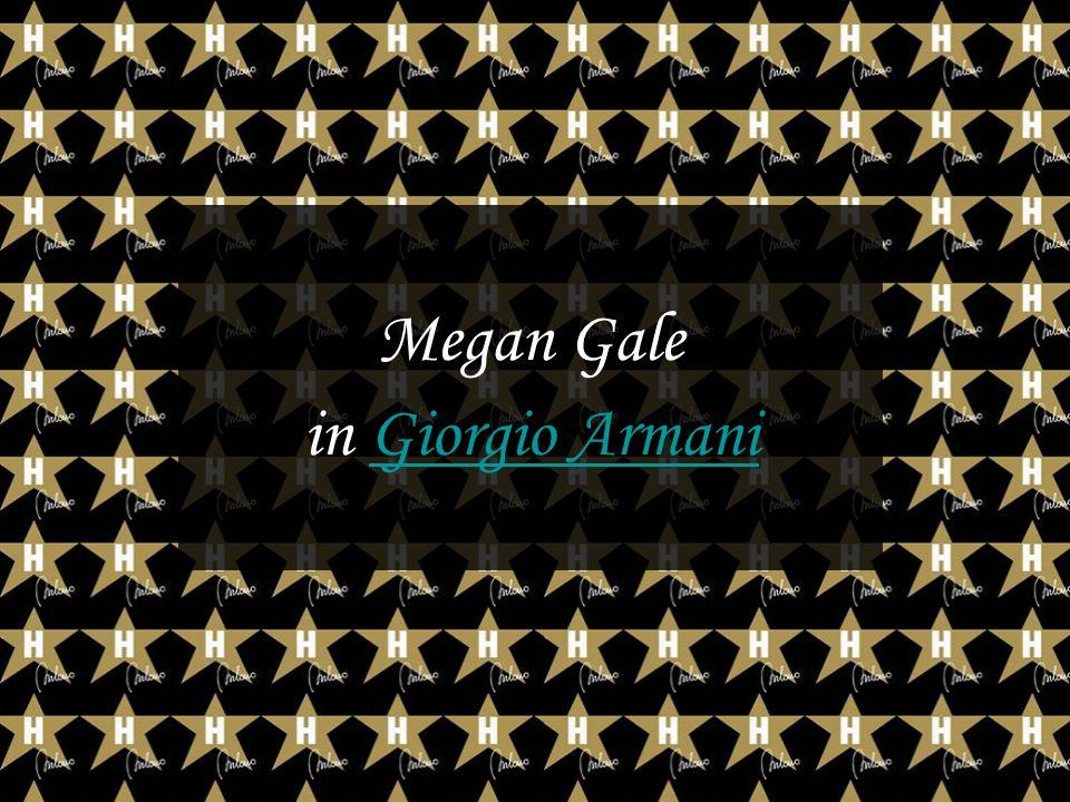 Megan Gale in Giorgio ArmaniGiorgio Armani