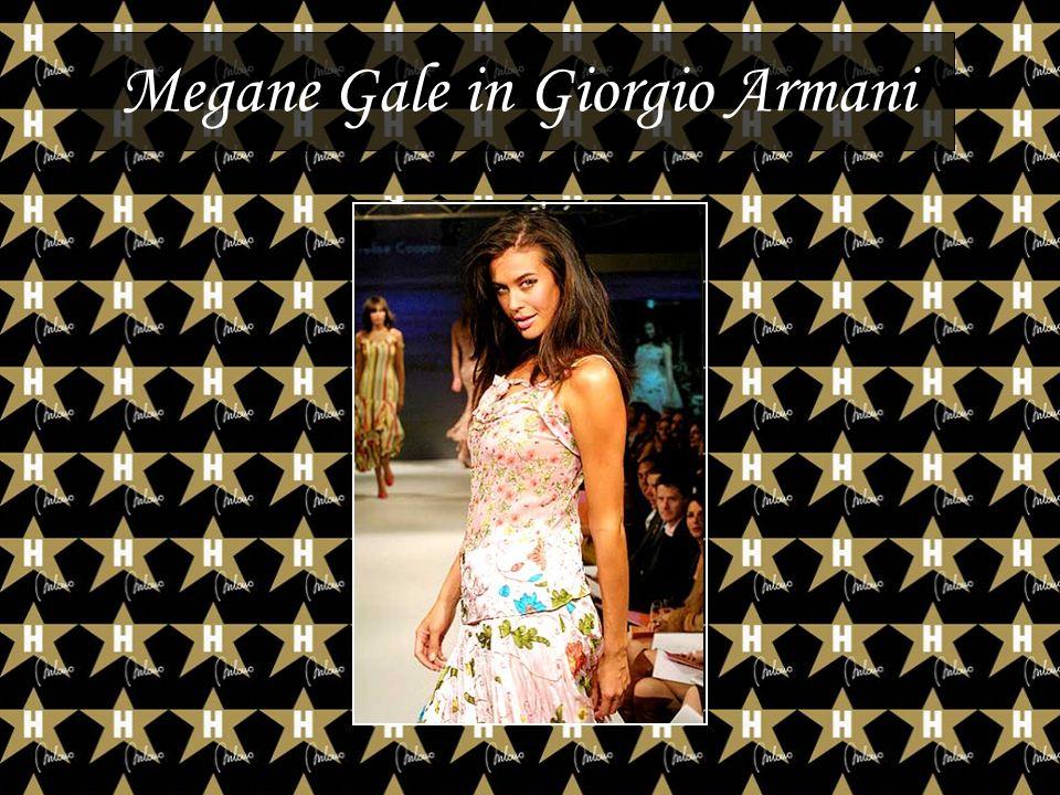 Megane Gale in Giorgio Armani
