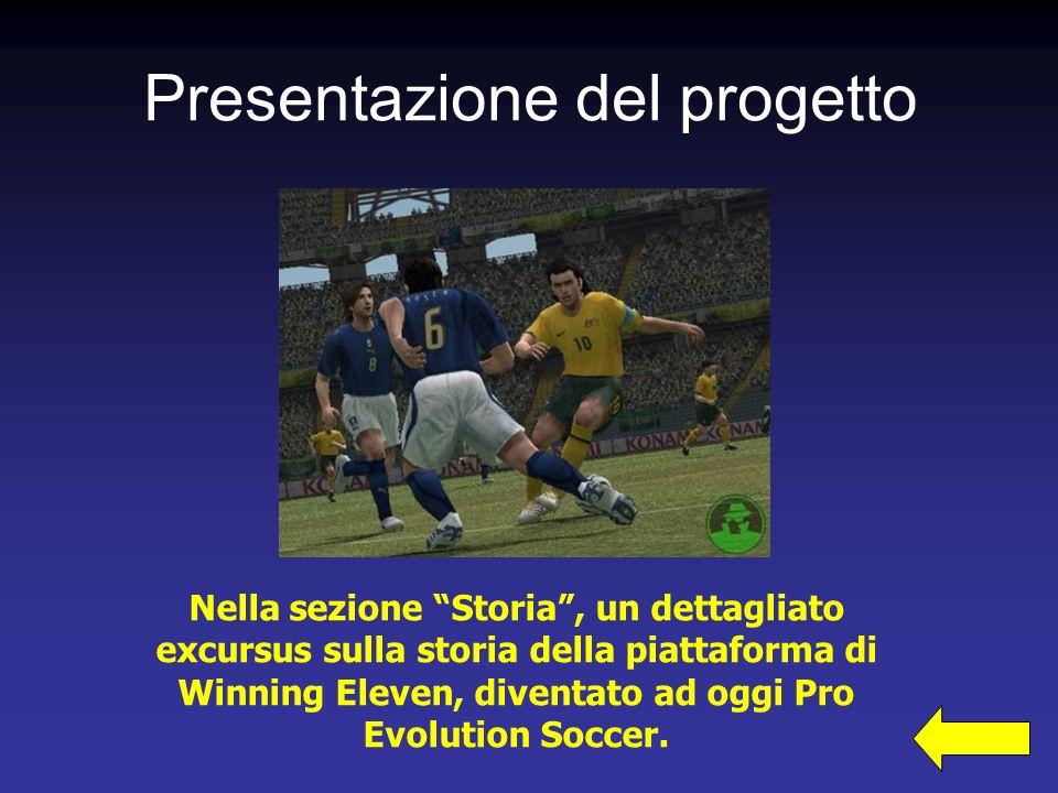 Nella sezione Storia, un dettagliato excursus sulla storia della piattaforma di Winning Eleven, diventato ad oggi Pro Evolution Soccer.