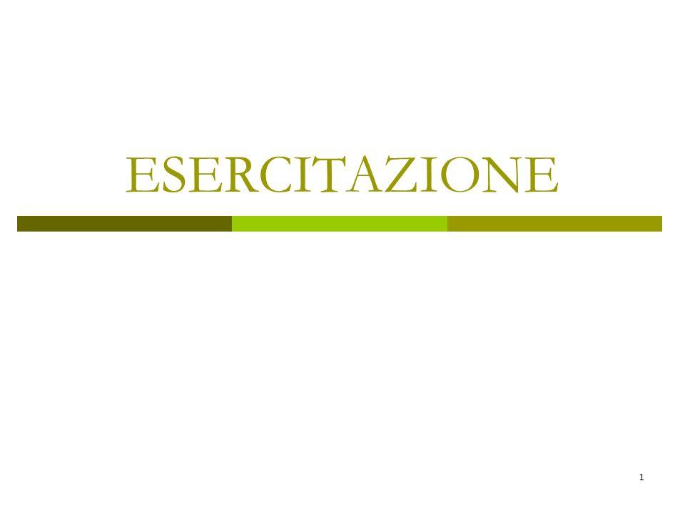 1 ESERCITAZIONE