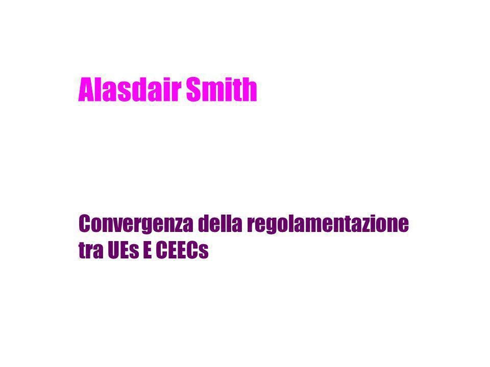 Alasdair Smith Convergenza della regolamentazione tra UEs E CEECs