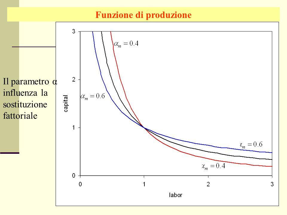 Giuseppe Celi IEG 2006 Funzione di produzione Il parametro α influenza la sostituzione fattoriale