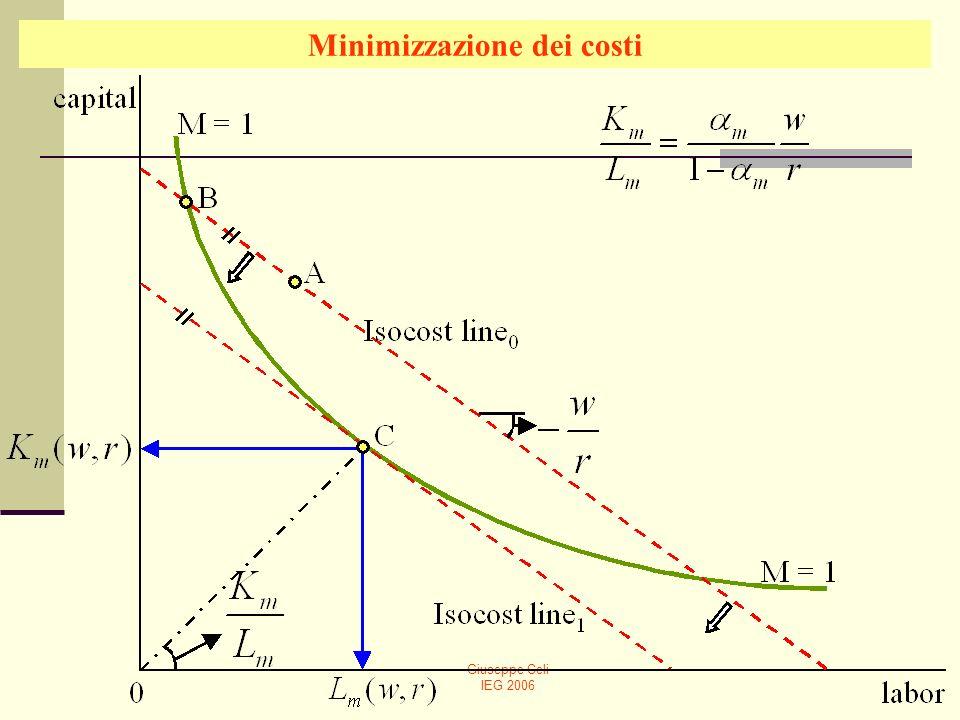 Giuseppe Celi IEG 2006 Minimizzazione dei costi