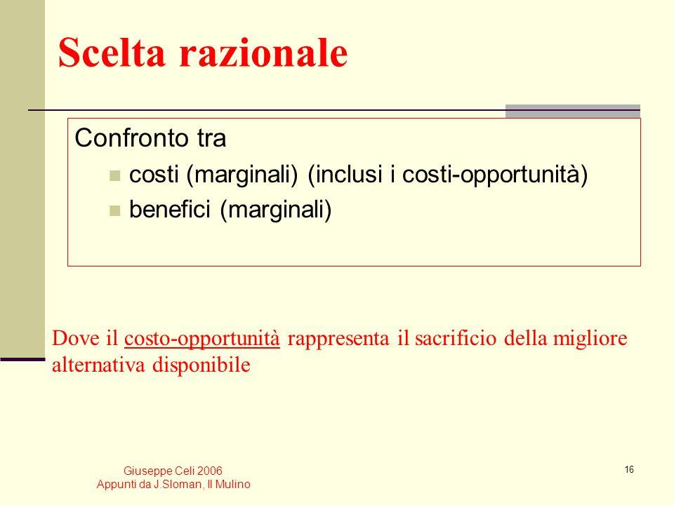 Giuseppe Celi 2006 Appunti da J.Sloman, Il Mulino 15 Leffetto esercitato da variazioni dellefficienza del lavoro sulla forma della funzione di produzi