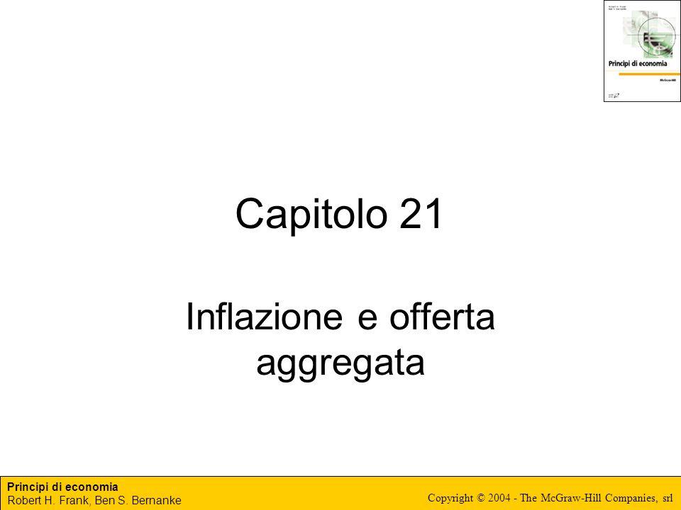 Principi di economia Robert H. Frank, Ben S. Bernanke Copyright © 2004 - The McGraw-Hill Companies, srl Capitolo 21 Inflazione e offerta aggregata