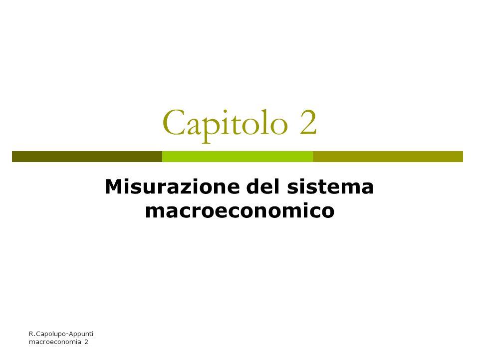 R.Capolupo-Appunti macroeconomia 2 Capitolo 2 Misurazione del sistema macroeconomico