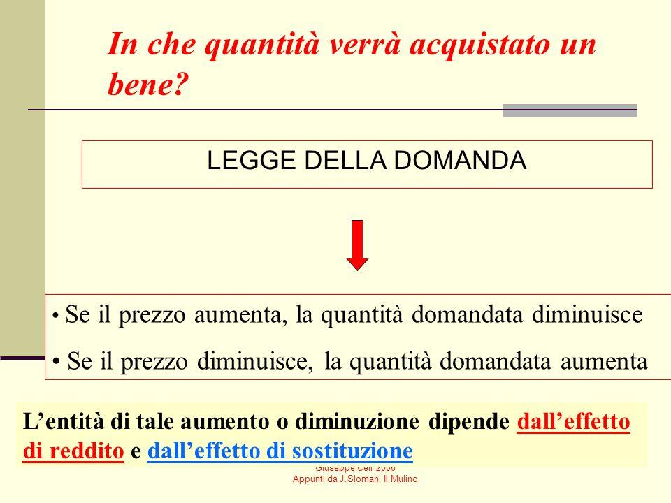 Giuseppe Celi 2006 Appunti da J.Sloman, Il Mulino Mercati concorrenziali I mercati che prenderemo in considerazione sono mercati di concorrenza perfet