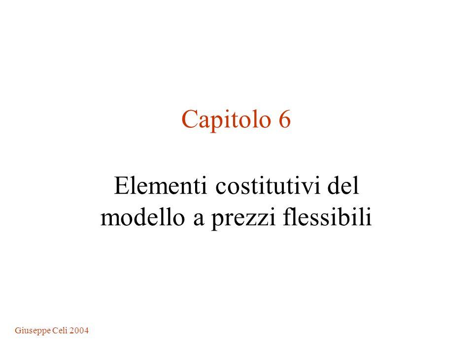Giuseppe Celi 2004 Capitolo 6 Elementi costitutivi del modello a prezzi flessibili