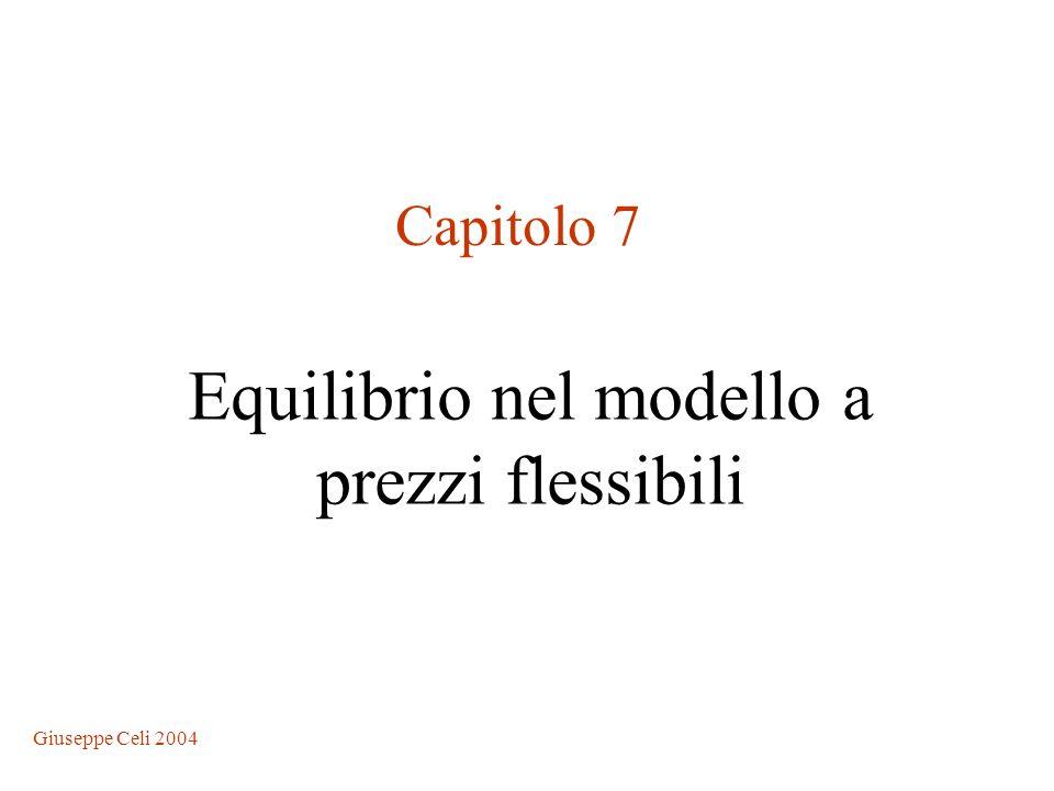 Giuseppe Celi 2004 Equilibrio nel modello a prezzi flessibili Capitolo 7