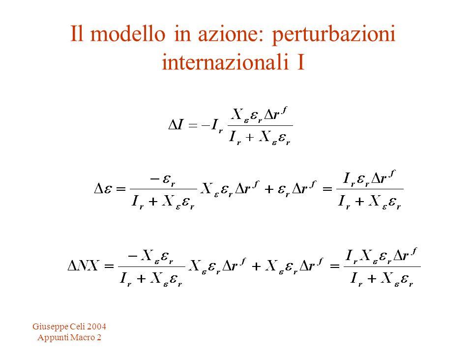 Giuseppe Celi 2004 Appunti Macro 2 Il modello in azione: perturbazioni internazionali I