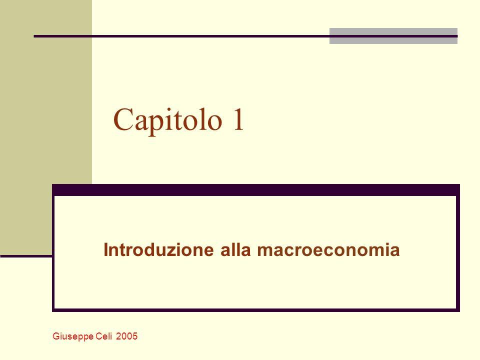 Giuseppe Celi 2005 Capitolo 1 Introduzione alla macroeconomia