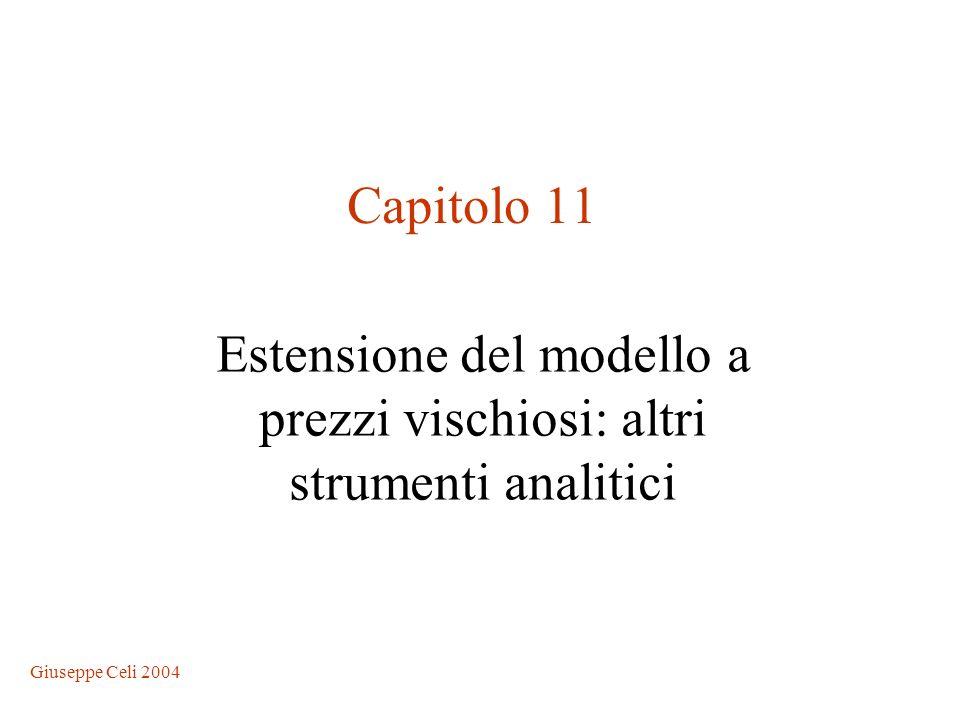 Giuseppe Celi 2004 Estensione del modello a prezzi vischiosi: altri strumenti analitici Capitolo 11