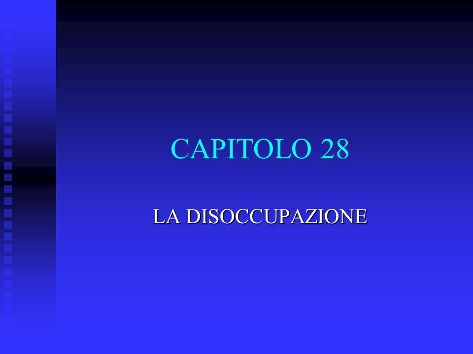 CAPITOLO 28 LA DISOCCUPAZIONE