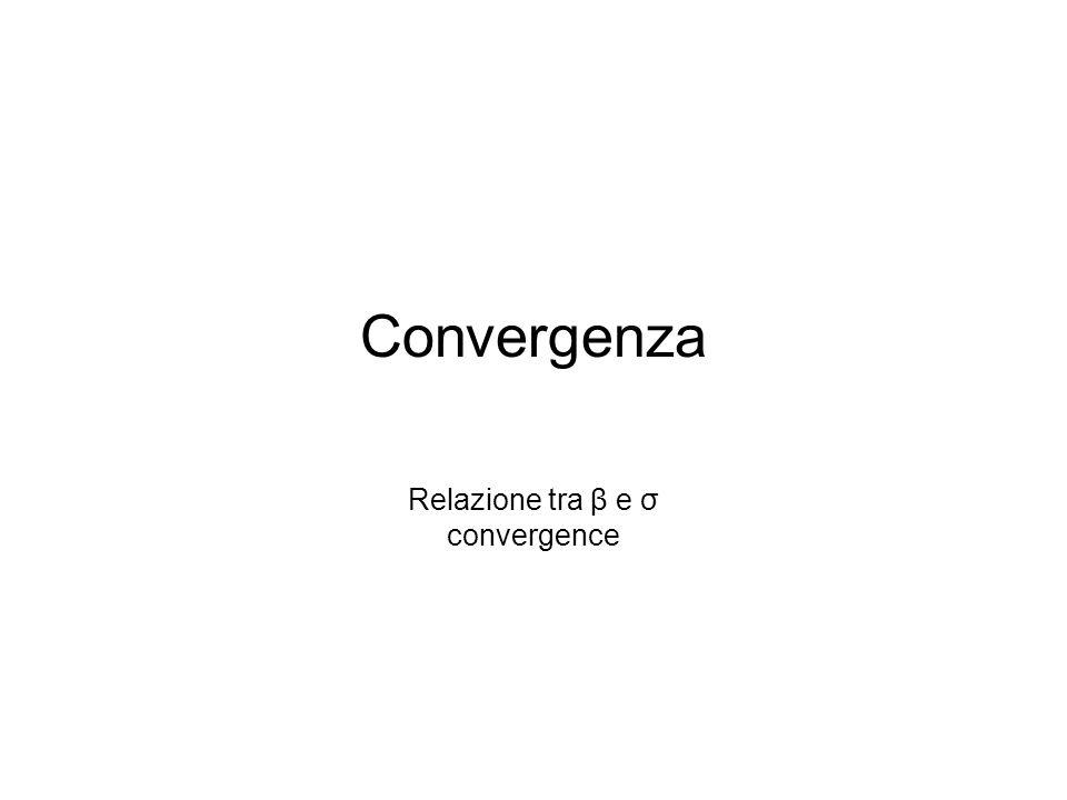 Convergenza Relazione tra β e σ convergence
