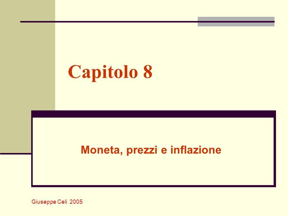 Giuseppe Celi 2005 Moneta, prezzi e inflazione Più alto è il costo opportunità di detenere moneta (più alto i), più bassa sarà la domanda di saldi monetari (vedi grafico che segue).