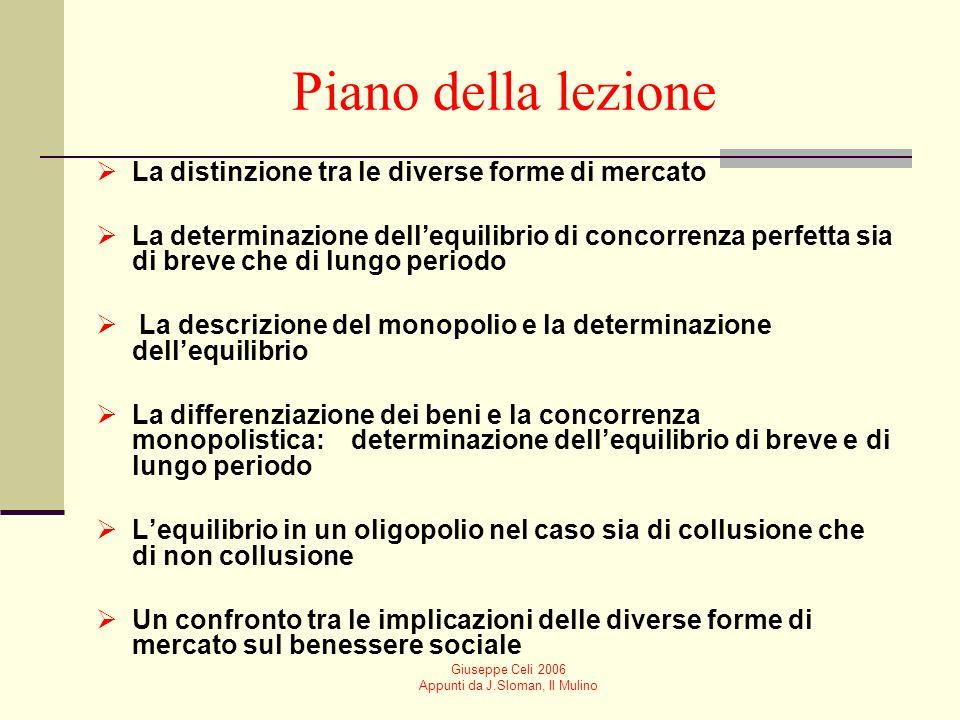 Giuseppe Celi 2006 Appunti da J.Sloman, Il Mulino Che cosa succede se poche imprese dominano il mercato.