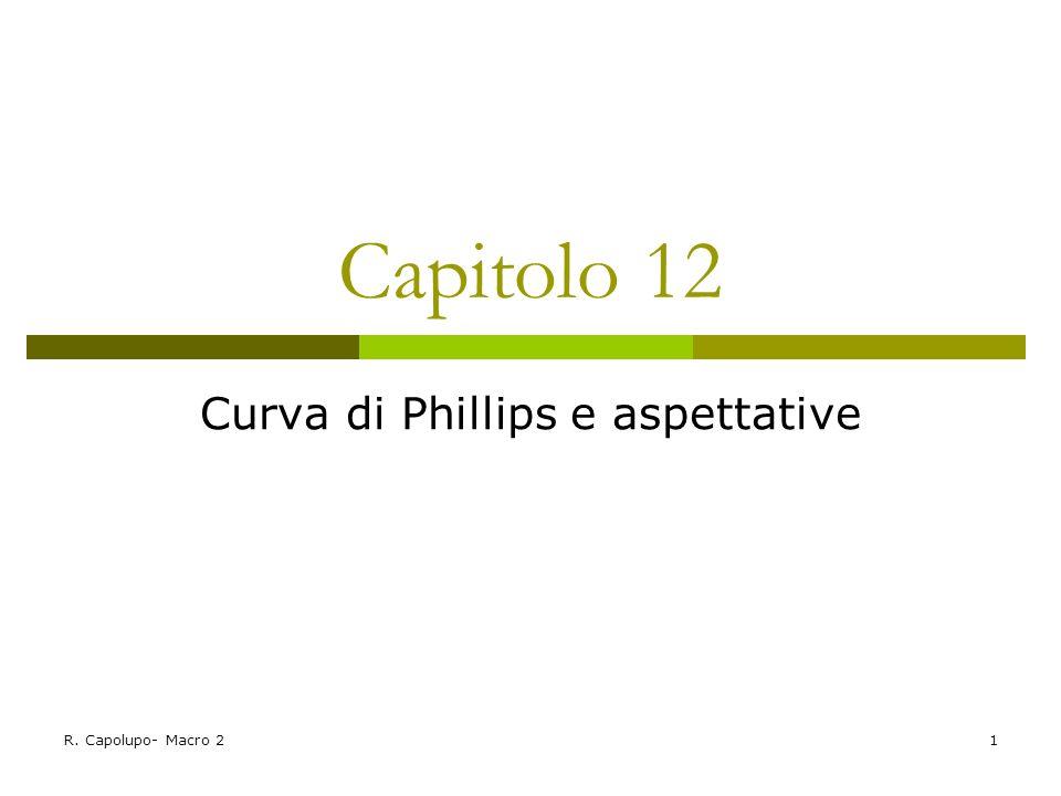 R. Capolupo- Macro 21 Capitolo 12 Curva di Phillips e aspettative